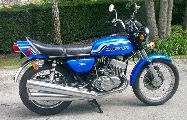 Bike of the day 1973 kawasaki kh750 h2 mcn