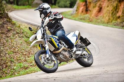 Husqvarna 701 Supermotard on the road