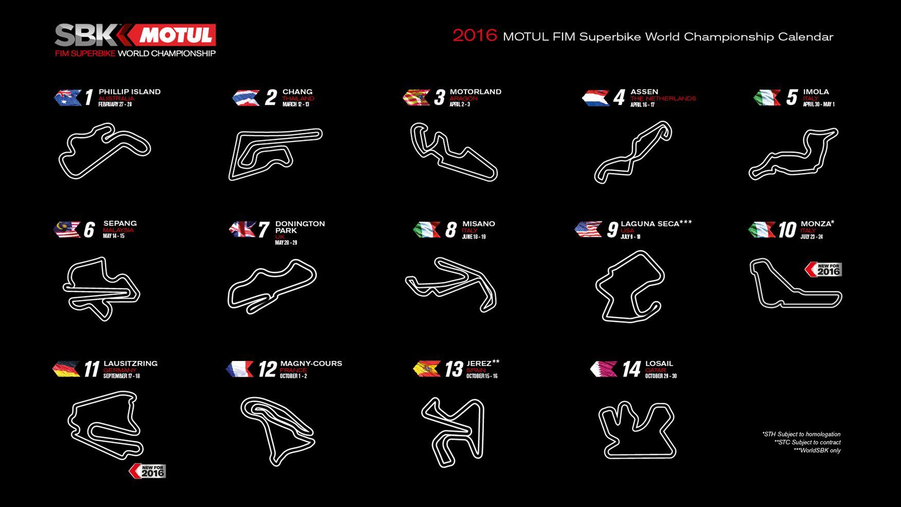 World Superbikes finally release 2016 calendar   MCN