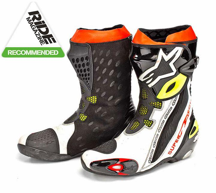 ride review alpinestars supertech r boots mcn. Black Bedroom Furniture Sets. Home Design Ideas