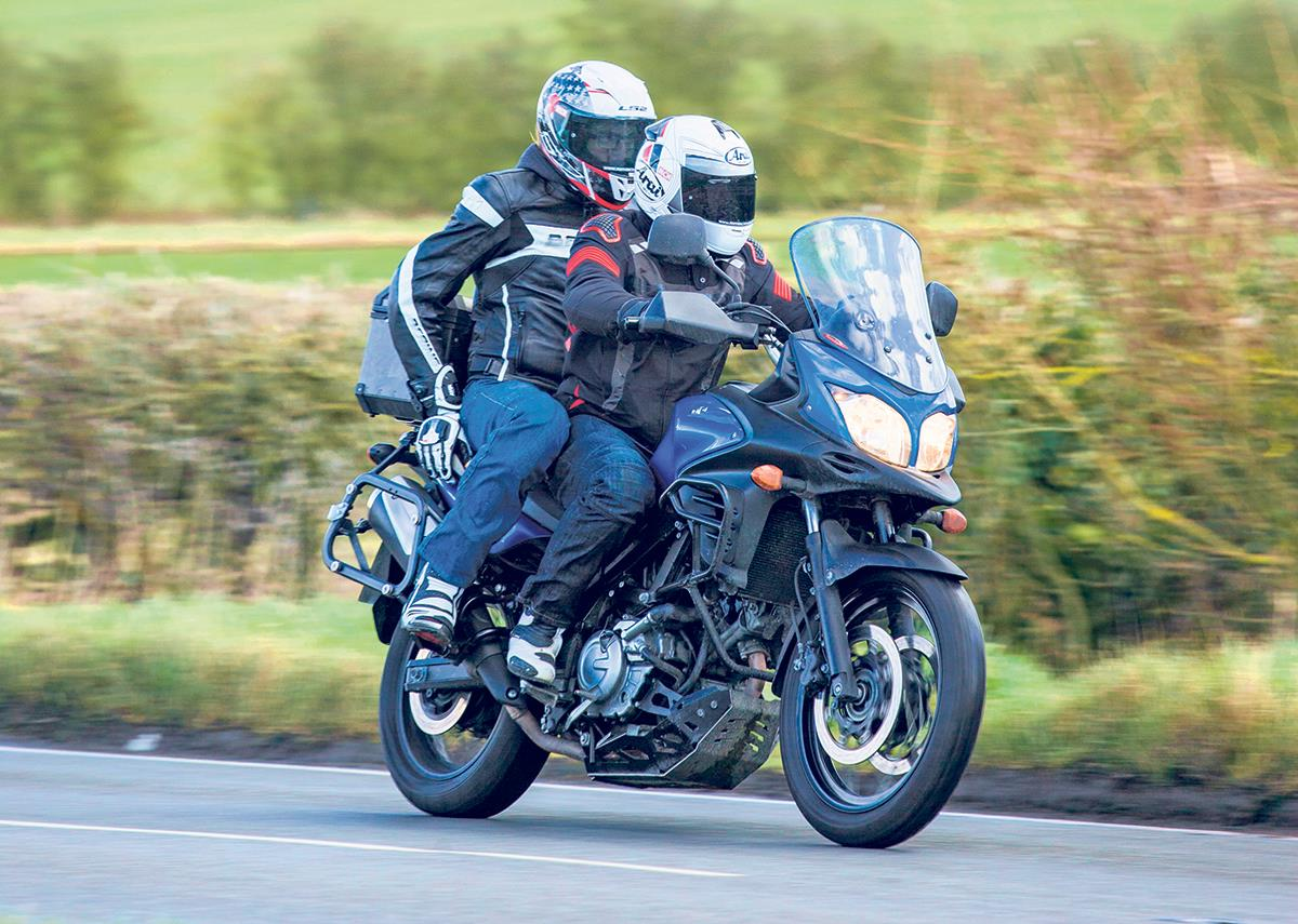 long term update how comfy is the v strom for pillions mcn