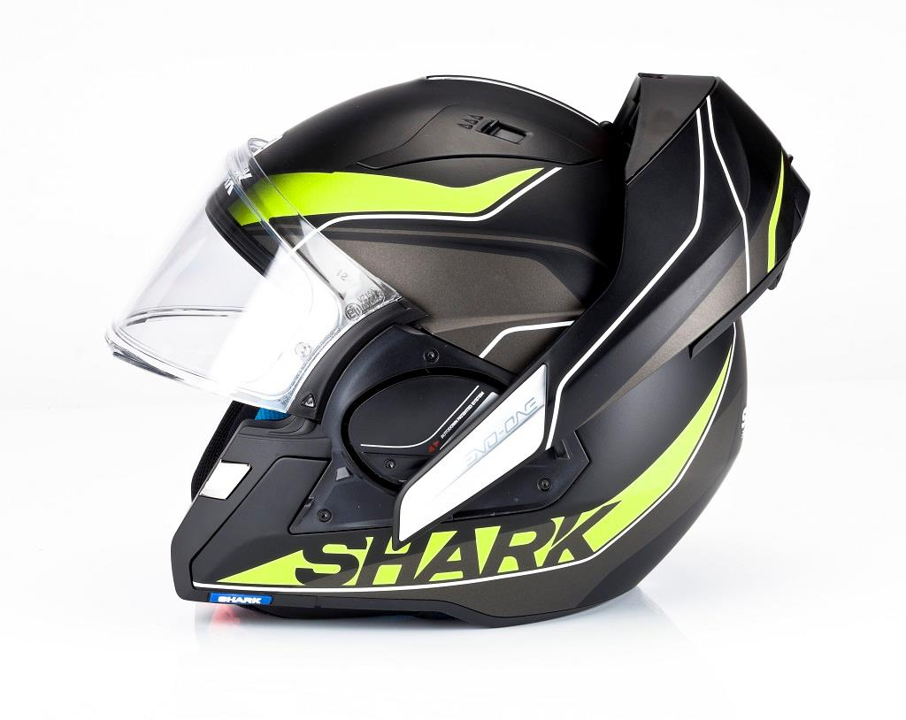 product review shark evo one helmet mcn. Black Bedroom Furniture Sets. Home Design Ideas