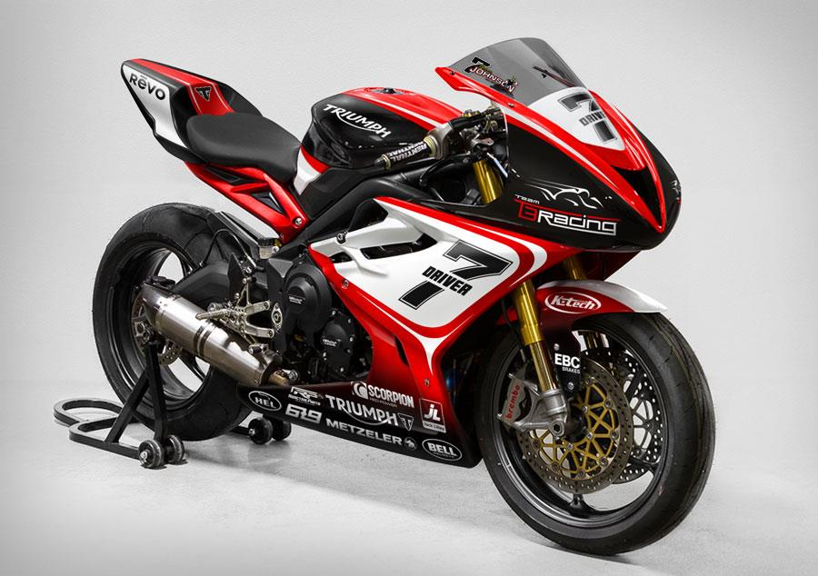 chance to win gary johnson u2019s actual triumph daytona 675 tt
