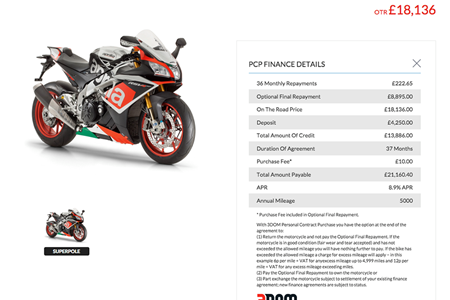 Motorcycle Payment Calculator >> Aprilia Launch Online Payment Calculator