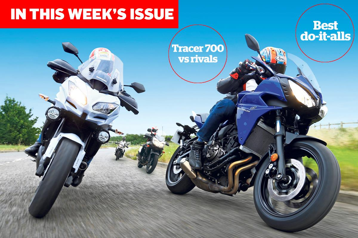 this week 39 s issue yamaha tracer 700 vs rivals mcn. Black Bedroom Furniture Sets. Home Design Ideas