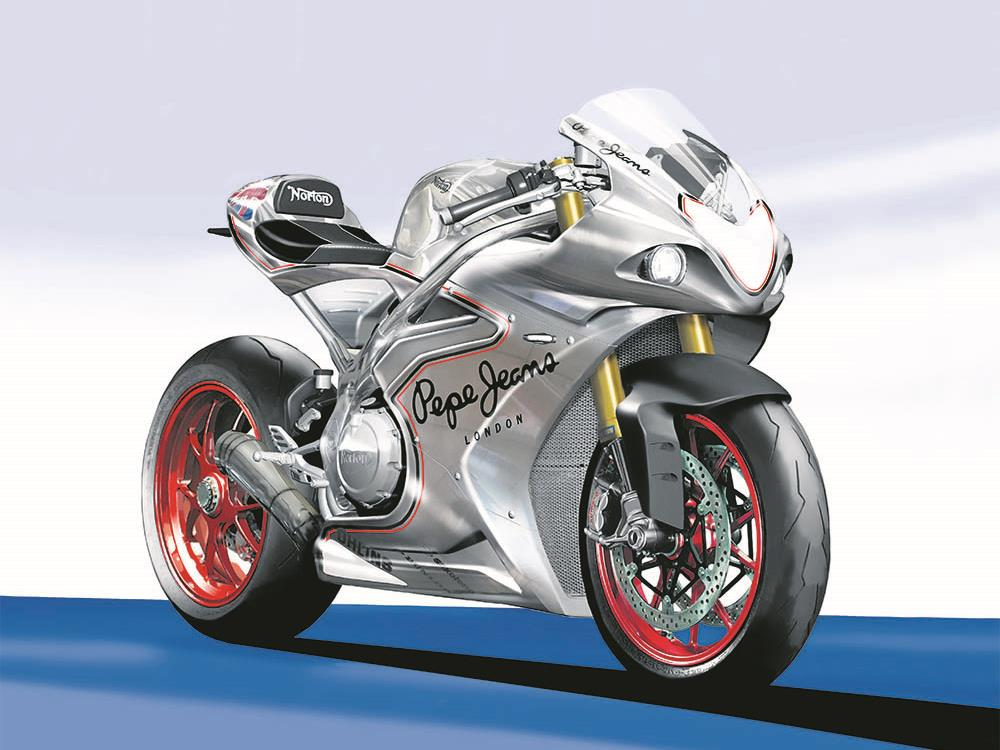 Taking Cues From The TT Bike This Norton Image Shows V4 Thats Set To