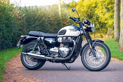 Triumph Bonneville T100 static side profile