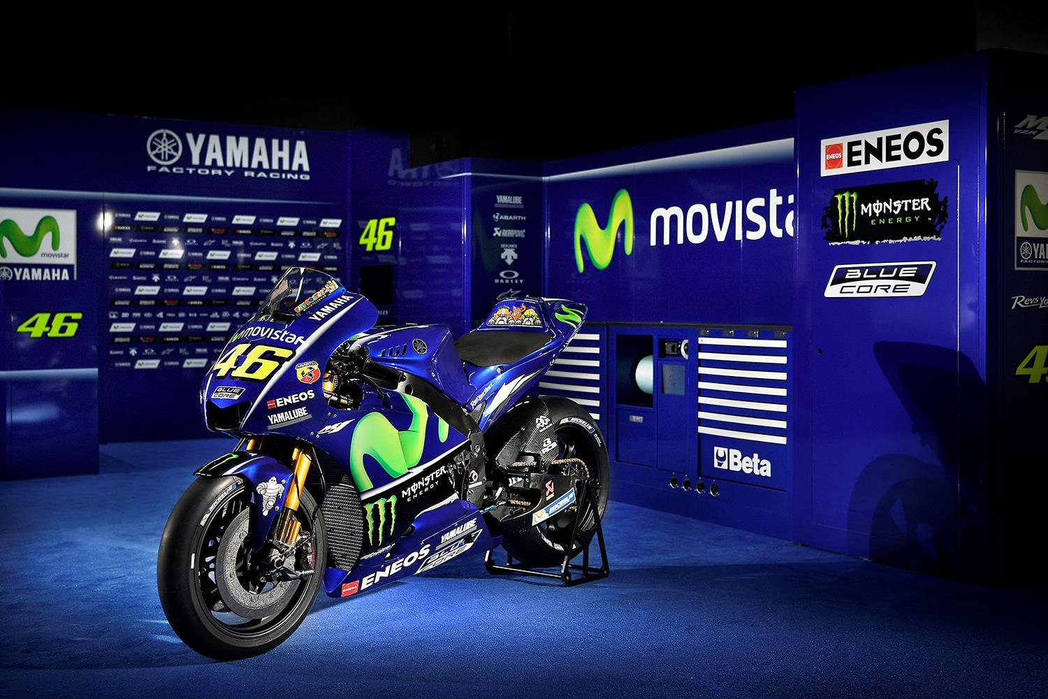 motogp: yamaha unveil 2017 movistar colours in madrid | mcn