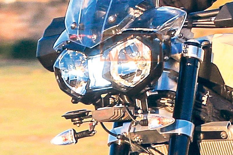 Spy shots reveal new version of Triumph's 800 adventure bike