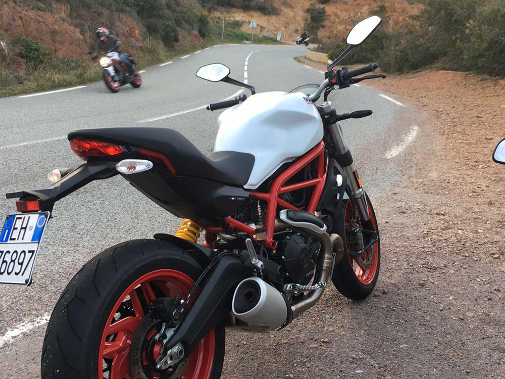 video: ducati monster 797 shines through despite washout | mcn