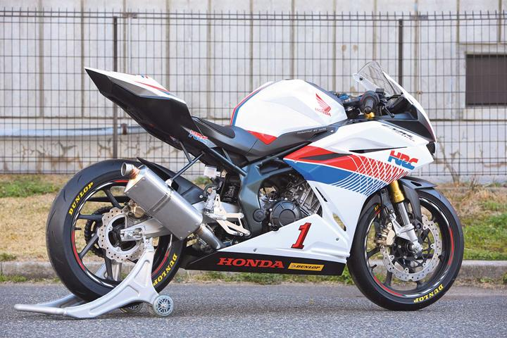 The HRC CBR250RR looks sharp and purposeful. We want one.