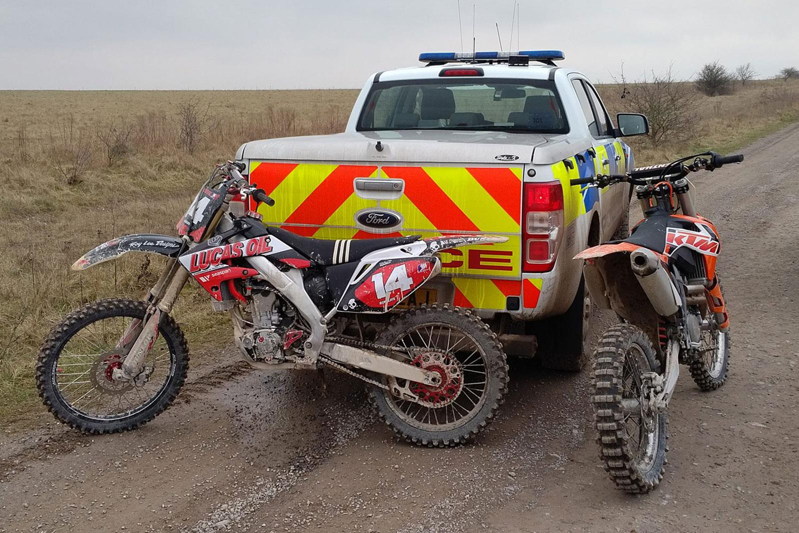 Police Clamp Down On Illegal Off Road Riding