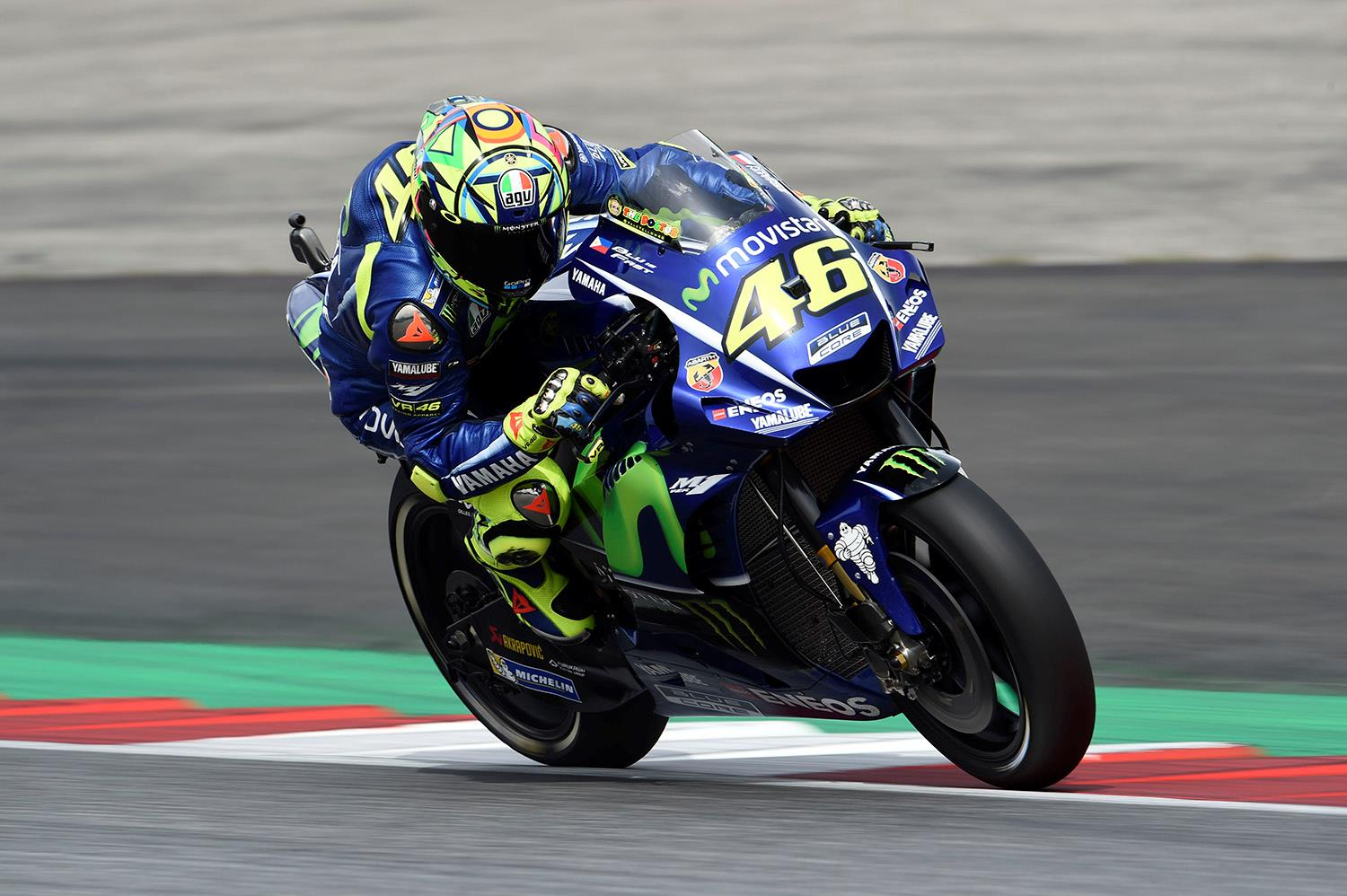 Motogp Rossi Rides Prototype 2018 Bike At Misano Test Mcn