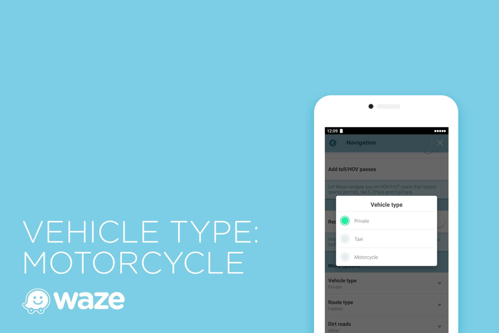 Waze adds navigation features for motorcycles