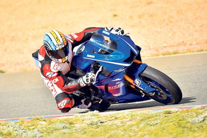 MCN's Adam Child rides the 2017 Yamaha R6 at its launch