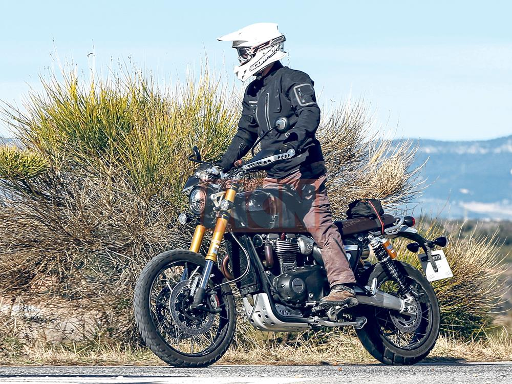 Exclusive Spy Shots Triumph Testing 1200 Scrambler With True Off Road Potential