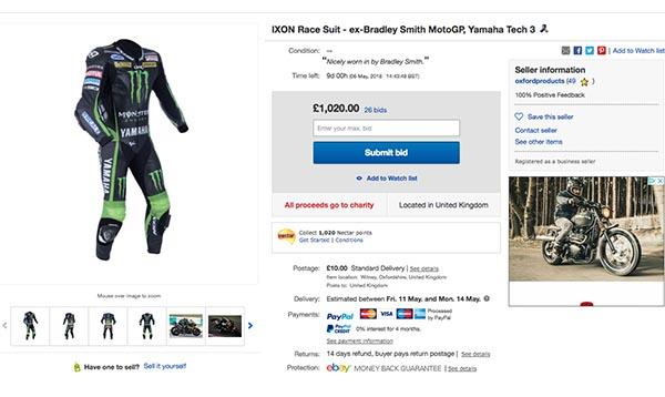Bradley Smith's leathers up for grabs…