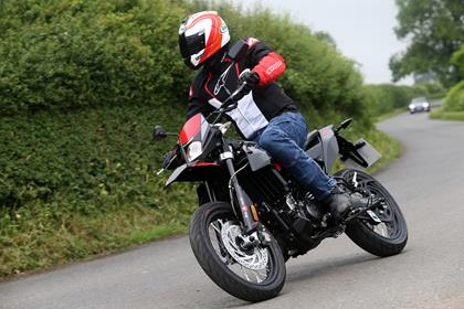The Aprilia SX125 is the road biased supermoto version