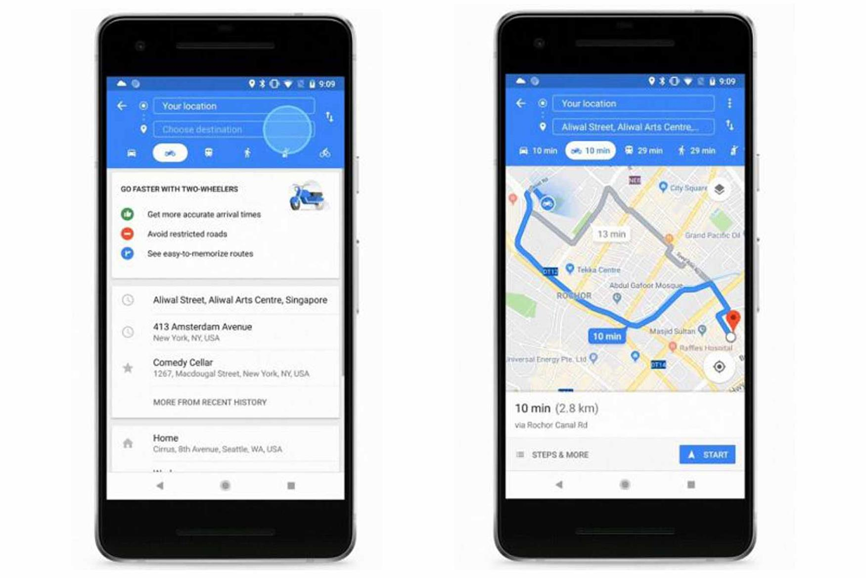 Google Maps launches 'motorbike mode' in Singapore