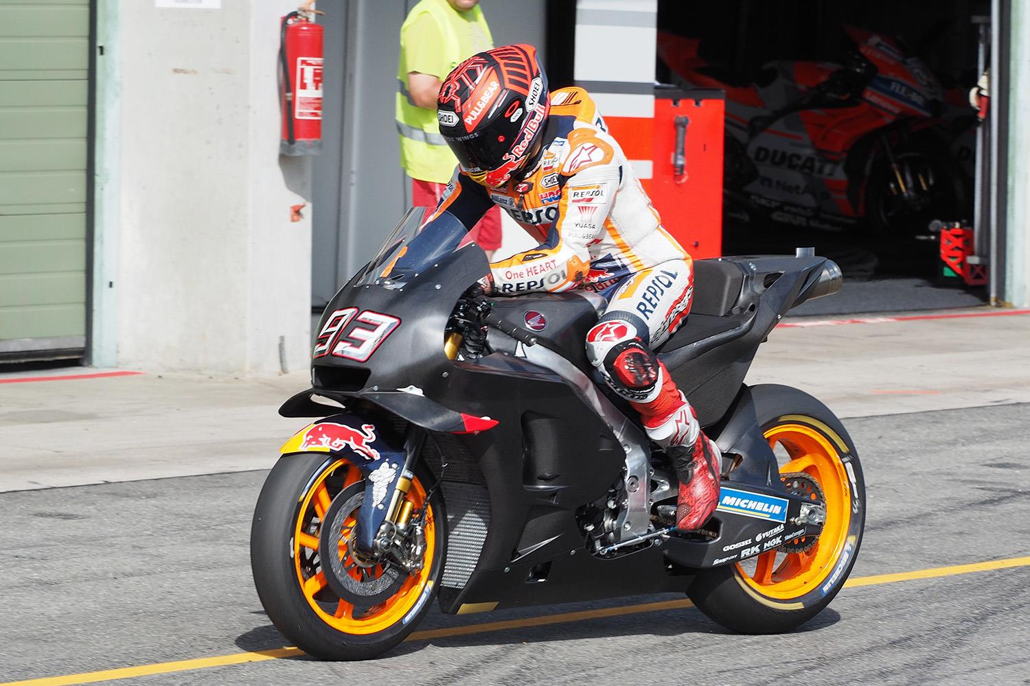Motogp Marquez Tops One Day Test At Brno