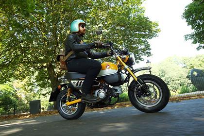 MCN's Gibbons rides the Honda Monkey