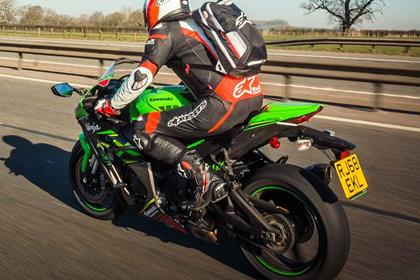 The Kawasaki ZX-10R in action
