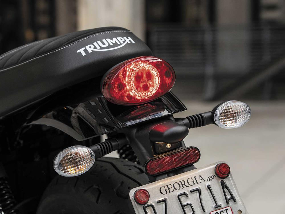 An LED tail light comes as standard