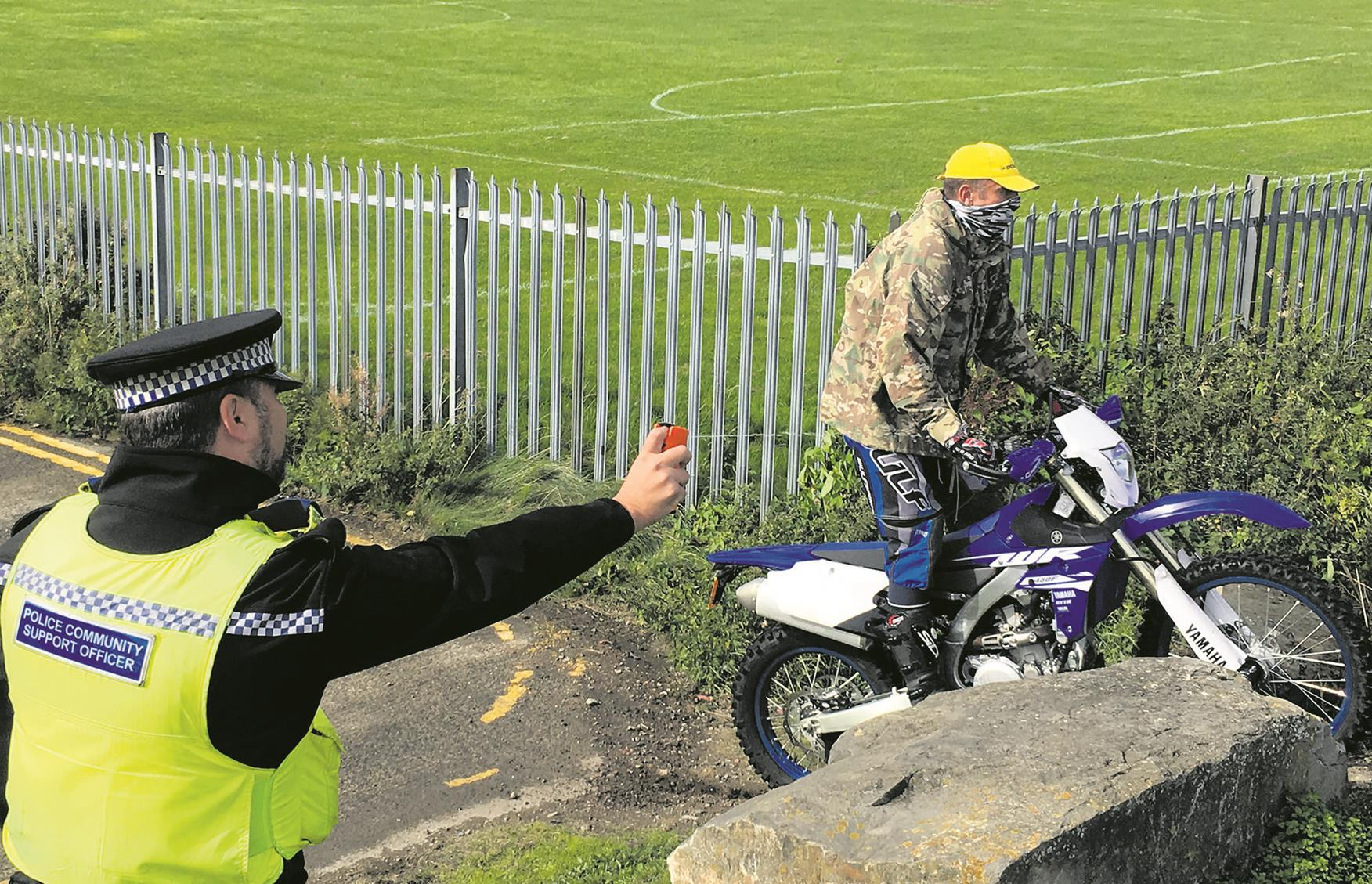Police fight motorbike crime with DNA spray