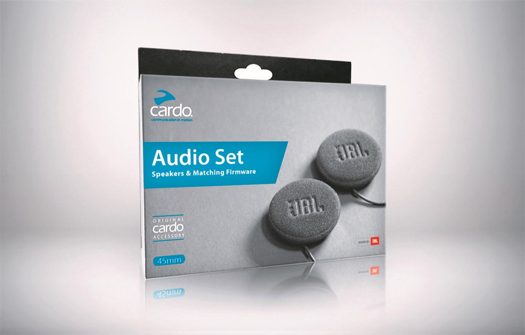Cardo add retrofit JBL speakers for Bluetooth headsets