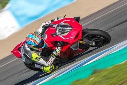 The Ducati Panigale V4 R in action