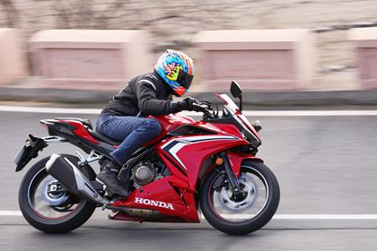 Honda CBR500R at launch