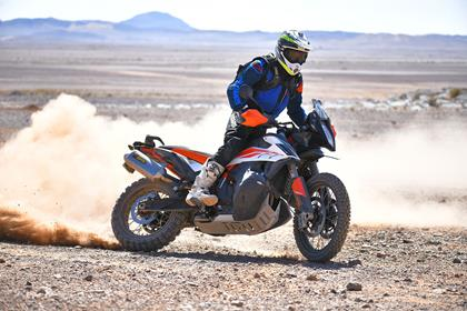KTM 790 Adventure R in the sand