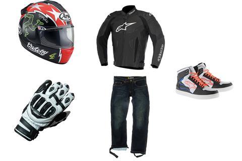 A-Pro Helmet Clothing Jacket Trousers Gloves Shelf Motorbike Motorcycle