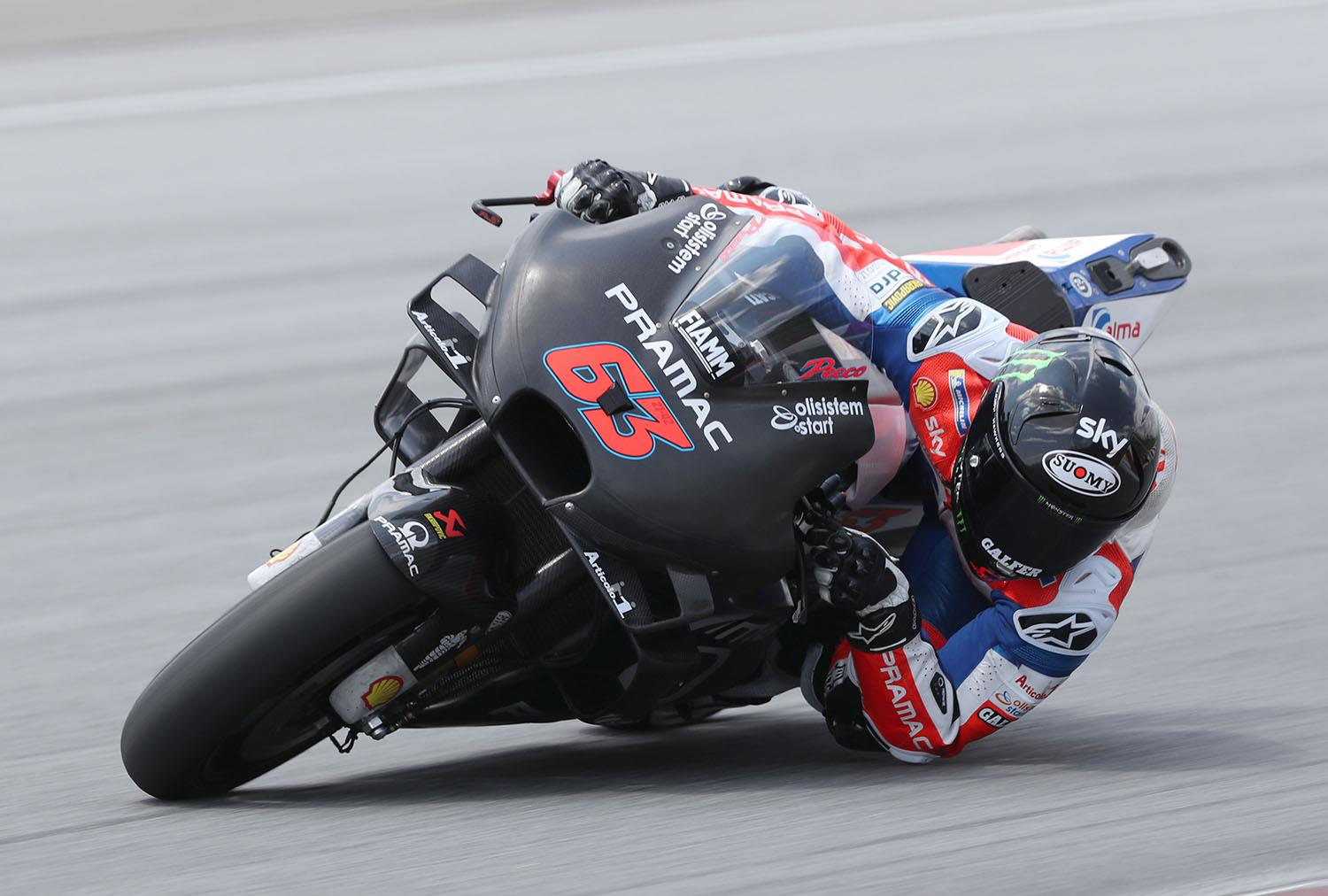 MotoGP: Second fastest Bagnaia still 'only at 65%'