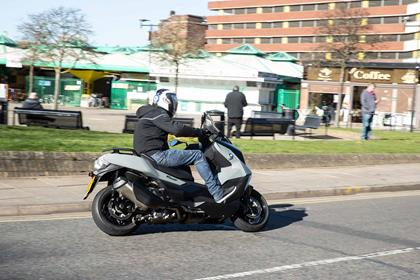 The BMW C400GT in action