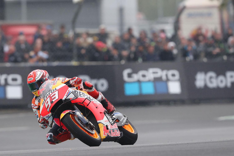 MotoGP: Marquez survives qualifying crash to take pole