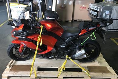 Ride of a lifetime: SX shipped Stateside