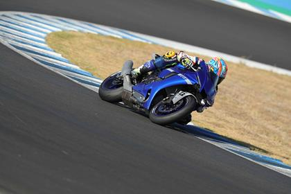 Cornering on the standard 2020 Yamaha R1