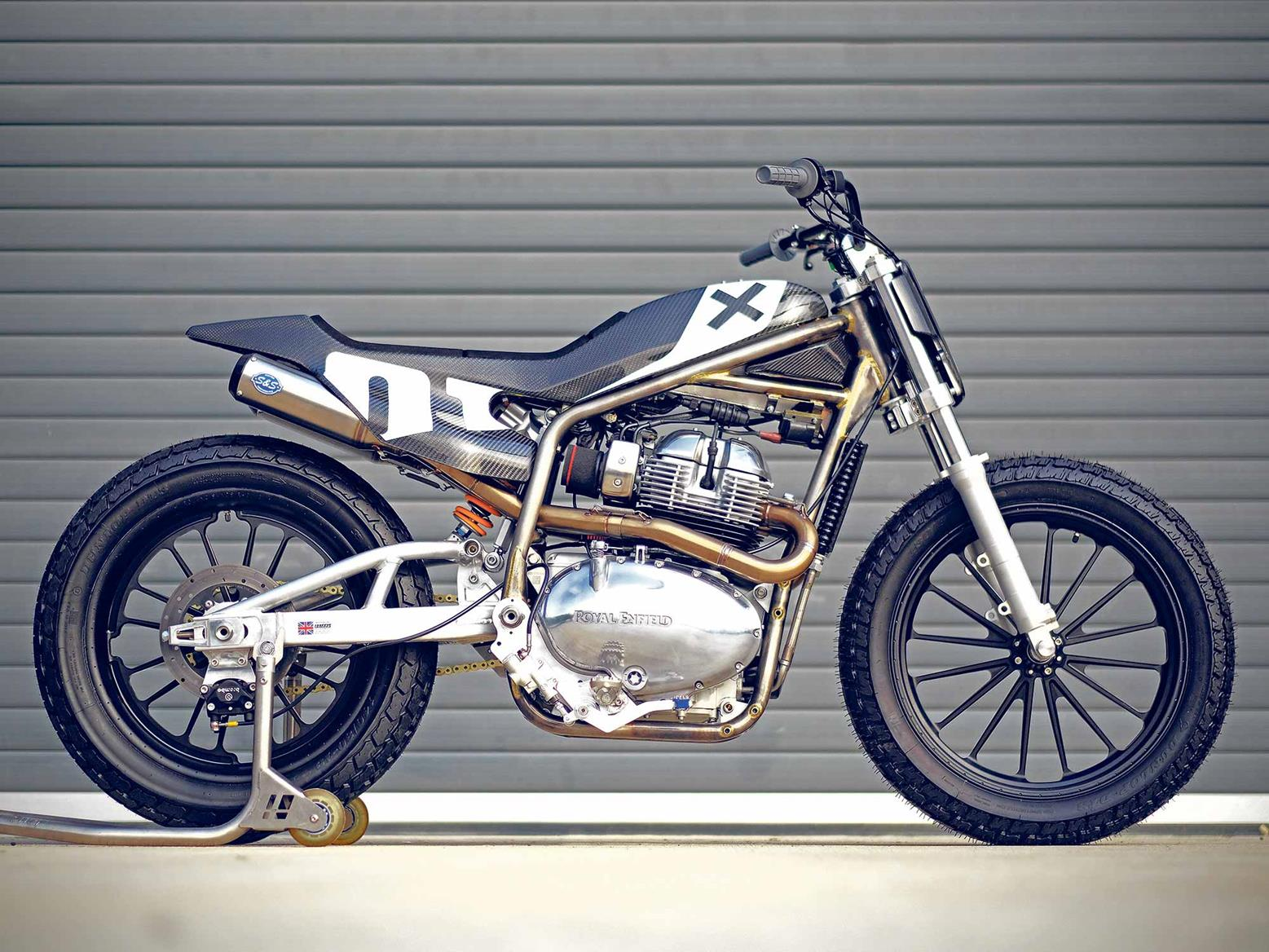 Royal Enfield custom 650 'tracker' and new Slide school hints at future