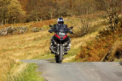 Riding a crest on the BMW R1200GS Adventure