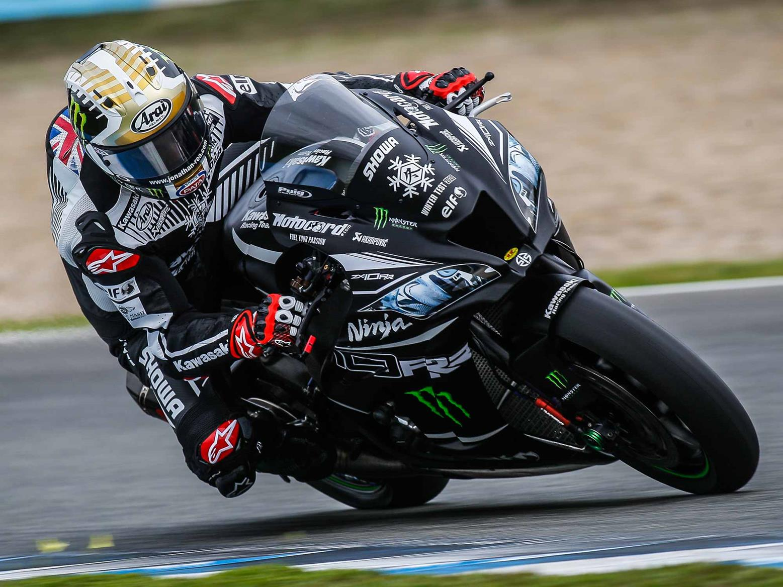 Jonathan Rea eases to the front at Jerez test