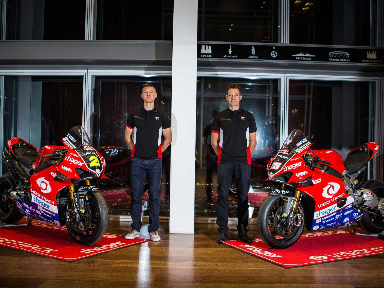 VisionTrack Ducati unveiled in special launch event at The Shard