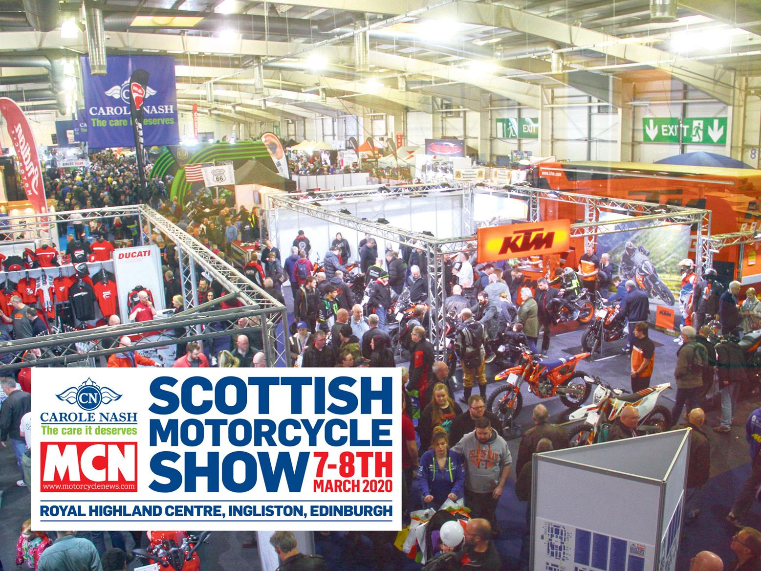 Just days to go until the 2020 Carole Nash MCN Scottish Motorcycle Show!