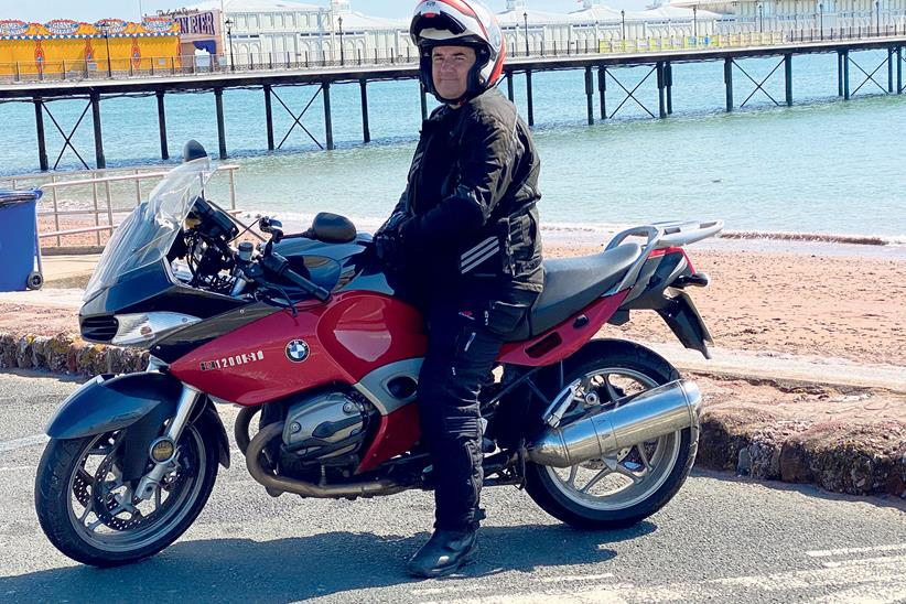 Andy Brown on his BMW R1200ST
