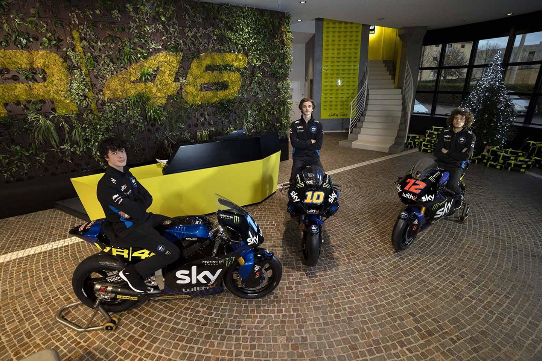 Motogp Luca Marini Unveils First Ever Sky Racing Team Vr46 Motogp Bike Mcn