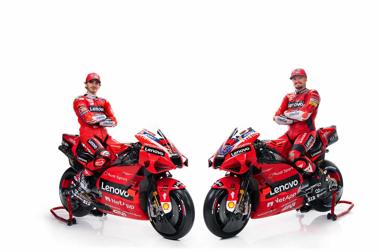 Motogp Ducati Officially Unveils Its 2021 Livery And Rider Line Up Mcn