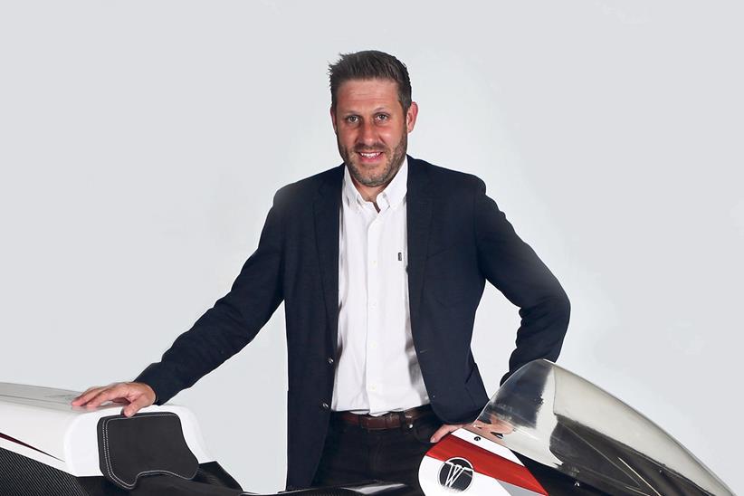Rob White poses with the WMC250EV