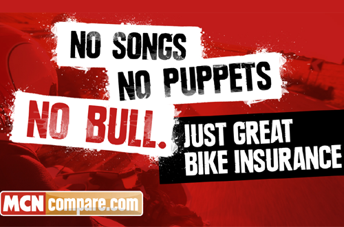 No songs, No puppets, No bull - Just Great Bike Insurance