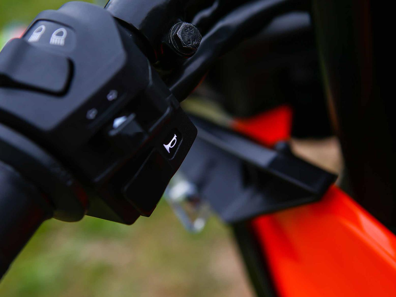 The KTM RC390 gets back-lit switch gear