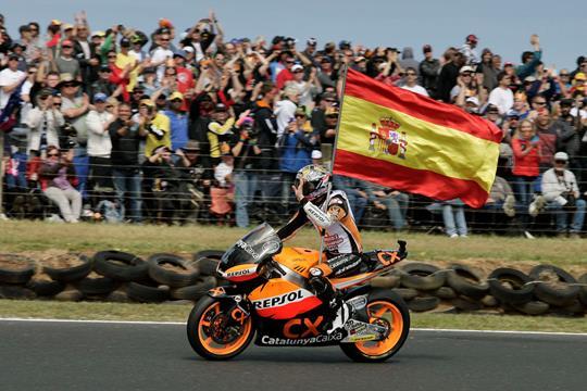 Marquez won the Moto2 crown in 2012